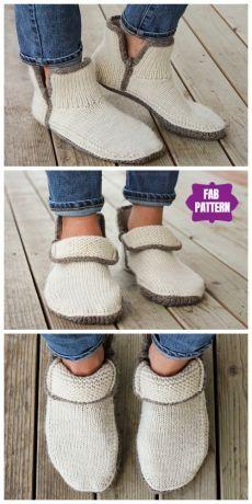 Knit Adult Modern Mocs Slippers Knitting Pattern … – The Best Ideas Crochet Patron, Hand Crochet, Crochet Baby, Knit Crochet, Knit Slippers Free Pattern, Knitted Slippers, Knitted Bags, Crochet Patterns For Beginners, Knitting Patterns