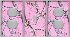 Pink Realtree Camo 1 Light Switch and 2 by mycustomswitchplates, $9.99