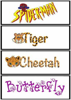 Face painting word art choices by Jackie Johnson