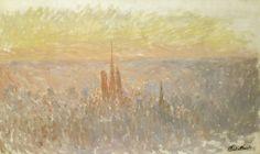 View of by Claude Monet - Cd Paintings Claude Monet, Renoir, Paris, Art Market, Van Gogh, Les Oeuvres, Paintings, France, Random