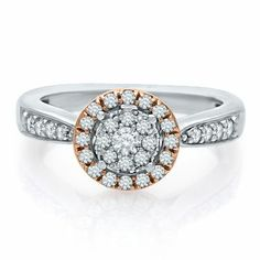 Helzberg Diamond Symphonies® 1/3 ct. tw. Diamond Engagement Ring in 10K Gold, available at #HelzbergDiamonds