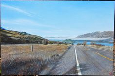 On the way to Glenorchy, New Zealand – Oil painting on 91cm x 61cm canvas New Zealand Landscape, No Way, Oil Paintings, Country Roads, Portrait, Canvas, Tela, Headshot Photography, Portrait Paintings