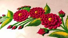 Rangoli Designs Latest, Simple Rangoli Designs Images, Colorful Rangoli Designs, Rangoli Designs Diwali, Beautiful Rangoli Designs, Diwali Rangoli, Easy Rangoli, Rangoli Borders, Rangoli Border Designs