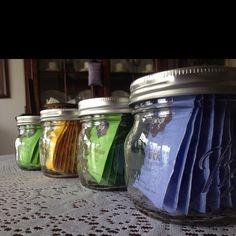 Tea Storage in Bell Jars