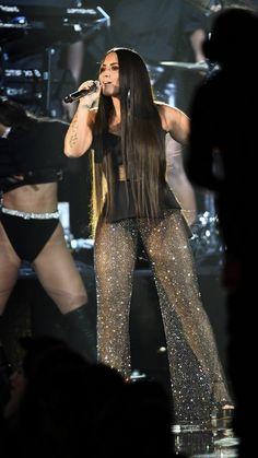 Demi Lovato performing at MTV EMA 2017 in London, UK