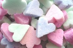 Heart-shaped sugar cubes. These are fun and easy to make, and made great cupcake toppers