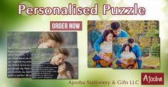 Turn your most treasured memory in to a photo puzzle. A fun gift for any age of the family & friends. Order your personalised puzzle from Ajooba   #Ajooba #Stationery #Gifts #AjoobaDubai #Puzzle #PersonalisedPuzzle #PersonalisedGift #BestGift #PerfectGift #GiftforMom #GiftforKids #GiftforTeens #GiftInDubai #DubaiArt #DxB #LoveDubai #UAE
