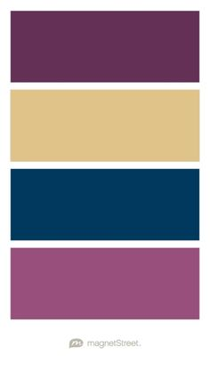 Eggplant, Gold, Navy, and Mulberry Wedding Color Palette - custom color palette…