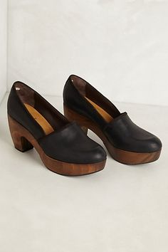 I love clogs, but these go beyond love. Theresa Loafer Clogs #anthropologie