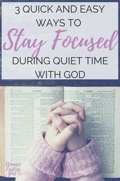 Prayer quotes:These 3 simple and easy tips will help you stay focused during your quiet time with God. No more falling asleep or being distracted during prayer or Bible study! Christian Faith, Christian Women, Christian Living, Christian Singles, Spiritual Growth Quotes, Bible Studies For Beginners, Learning To Pray, Religion, Bible Study Guide