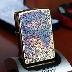 Japanese Smoked Copper Arabesque Zippo Lighter Limited Edition