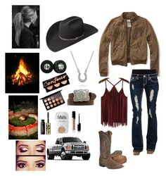 """Bonfires"" by rodeo-hard-cowgirl ❤ liked on Polyvore featuring Nocona, Bailey Western, Hollister Co., Bling Jewelry, MAC Cosmetics, tarte, MILK MAKEUP and Marc Jacobs"