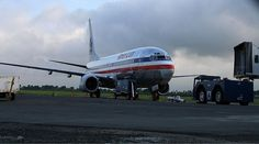 Boeing 737-800 at Cibao International Airport in Santiago, DR. Dominican Republic.