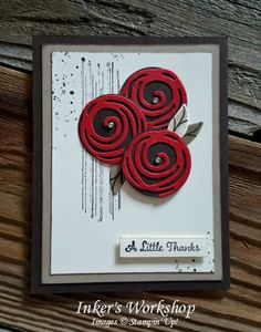 Roses Are Red My Love! Color challenge #GDP065 Inker's Workshop 2016.