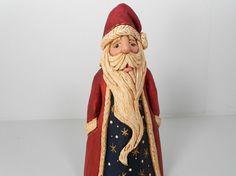 Coleccionable Santa talladas a mano Santa por TrueWoodcarvings