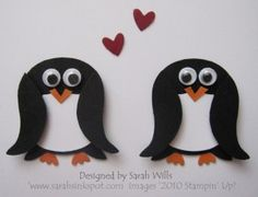 Penguins made from SU owl punch