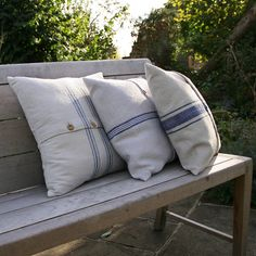Cushions Cushion Outdoor Outdoors Teak Garden Furniture Bench Seat Linen Duck Feather