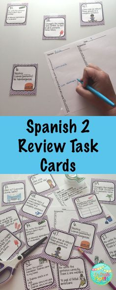 Perfect for the beginning of Spanish 3 to assess what your students coming in know or at the end of Spanish 2 to give them one last review before they leave for summer. 48 cards, student response sheet, and answer key are included.