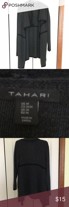 Gray long sweater No stains or flaws. Comfy for winter! Tahari Sweaters