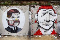 Borondo x Alexis Diaz, Pixel Pancho, RUN, Cane Morto New Street Pieces - London, UK