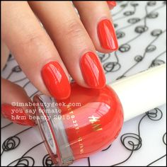 H&M Nail Polish You Say Tomato. imabeautygeek.com