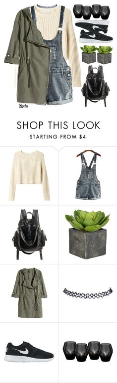 """""""#SheIn"""" by credentovideos ❤ liked on Polyvore featuring Monki, H&M, Wet Seal, NIKE and Eichholtz"""
