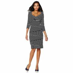 Fit to Flatter . . .Colleen Lopez 3/4-Sleeve Tiered Dress