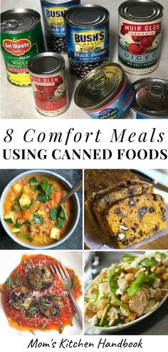 I love canned foods, which is why I'm sharing the ones that I routinely stock in my own pantry and how I use them to make wholesome, comforting meals. I'm also including 8 easy, delicious comfort food recipes that are made with #cannedfoods! #comfortfood #comfortfoodrecipes #comfortfooddinners #comfortfoodrecipesdinners #cannedgoods #cannedfoodstostockupon #healthycomfortfood #healthycomfortfoodrecipes #healthycomfortfoodrecipeseasy