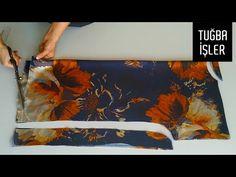 Çok Pratik Tiril Tiril Bluz Kesimi ve Dikimi | Tuğba İşler - YouTube Dress Sewing Patterns, Clothing Patterns, Clothes Crafts, Clothing Hacks, Fashion Sewing, Sewing Techniques, Skirt Fashion, Projects To Try, Tapestry