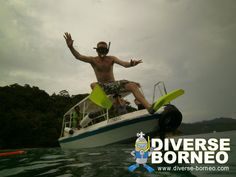 photo during guided snorkeling trip with Diverse Borneo