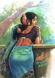 Reading Pictures, Music Pictures, Art Painting Gallery, Painting Of Girl, Vintage Wedding Colors, Indian Women Painting, Black Panther Art, Retro Room, Vintage Girls Dresses