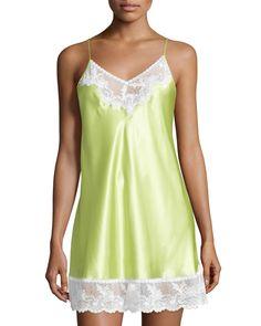 Prism Pretty Nightie W/Lace, Green, Women's, Size: XS - Oscar de la Renta Pink Label