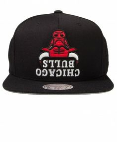 Hall of Fame - Bulls Upside Down Snapback Cap - $40