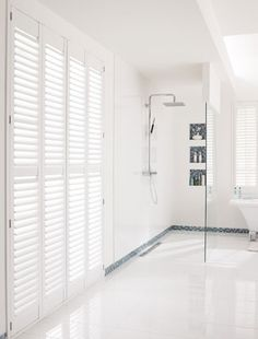 Stylish bathroom shutters and beautiful bathroom!