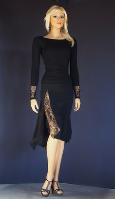 ta 018 black tango dress