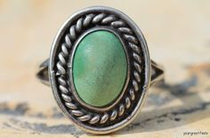 Vintage Southwestern Navajo style sterling silver ring. It was made in Taxco, Mexico and even has a number 3 eagle stamp. There is a partial