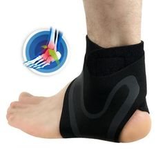 Ankle Support Brace, Adjustable Ankle Strain Protector Strap, Against Sprains Arthritis Compression Wrap Stabilizer, Pain Relief Foot Sleeve for Basketball Sport Injuries Recovery, 1 Pairs (S) Heel Pain, Foot Pain, Ankle Pain, Weak Ankles, Swollen Ankles, Muscle Fatigue, Circulation Sanguine, High Intensity Workout, Sprain