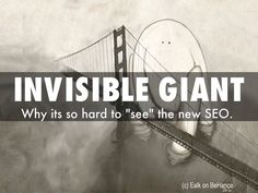 "There is a new invisible giant, a giant using 5 ""tricks"" so the ""new seo"" is hard and harder to see and understand. This Haiku Deck and Curatti blog post is about how to see the invisible giant. How to win hearts, minds and loyalty online."