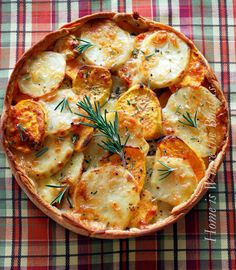 Potato Gratin with a rosemary crust would be perfecy with prime rib roast for Christmas