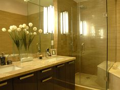 Master Shower tile example & overall color feel of cabinets & tile