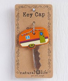 Orange Camper Key Cap only $4.99 on zulily. Love this for the RV key!