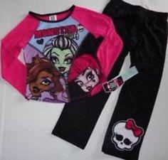 Monster High Girls Pajamas Set New with Tags Size 7 8 Sleepwear | eBay