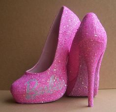 Hey, I found this really awesome Etsy listing at https://www.etsy.com/listing/114105010/pink-barbie-glittered-high-heels
