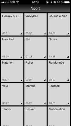 Sport list...