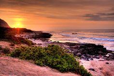 Lost Sunset ~ Mokule'ia Beach, along North Shore, Oahu, Hawaii