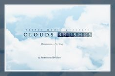 Clouds Brushes by VectorMedia on Creative Market