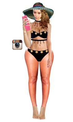 """""""Instagram Time: Bikini selfie before hitting the pool"""" by a-andm ❤ liked on Polyvore featuring Agent Provocateur and Moschino"""