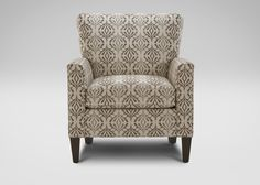 Collin Chair, Leigha/Pewter Ethan Allen  Leigha/Pewter (64352) fabric,