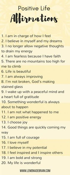 Quotes Sayings and Affirmations Positive life affirmations - Lemonade Brain. Self love. Positive Quotes For Life Encouragement, Positive Quotes For Life Happiness, Positive Thoughts, Quotes Positive, Positive Self Talk, Positive Mindset, Positive Vibes, Affirmations For Women, Morning Affirmations