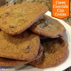 Chewy Chocolate Chip Cookies..... I finally found the perfect recipe!!